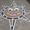 Clock n Compass Tan