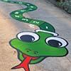 Green Number Snake