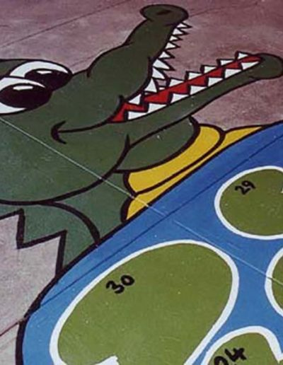 The Croc Pond has numbers on the lily pads and is a great jumping game which can introduce children to counting.